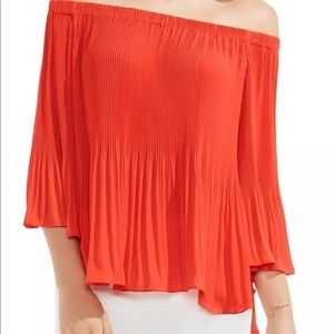 Red pleaded blouse size xl Vince Camuto